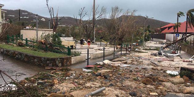 Sur Facebook, Kevin Barralon a immortalisé les ravages d'Irma sur l'île de