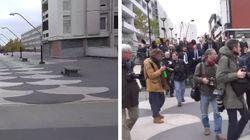 Il y avait plus de journalistes que d'habitants pour accueillir Juppé sur la dalle