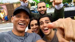 Will Smith dévoile une première photo des acteurs d'Aladdin