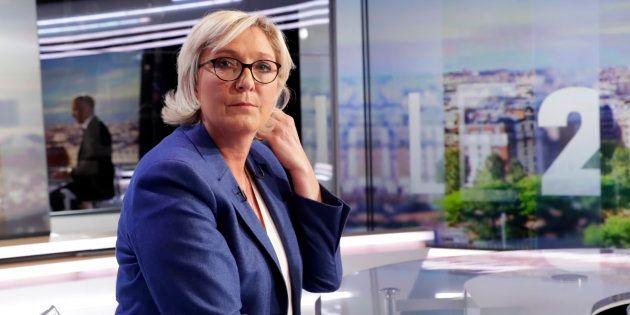 Marine Le Pen sur le plateau de