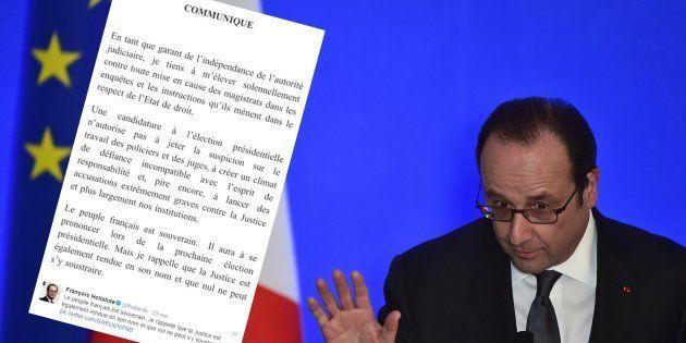 Hollande charge Fillon, Le Pen et