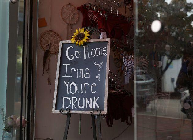 Rentre chez toi Irma, tu es