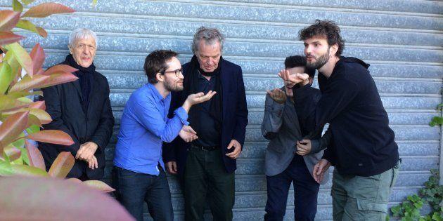 Émile Parisien, entouré de Michel Portal, Joachim Kühn, Mário Costa et Vincent
