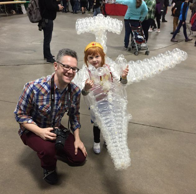 Marty Pants et sa fille au Comic-Con
