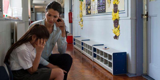L'enseignant, au coeur du combat contre le harcèlement à l'école. Illustration.