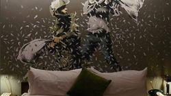 Banksy dévoile son hôtel adossé au mur controversé d'Israël en