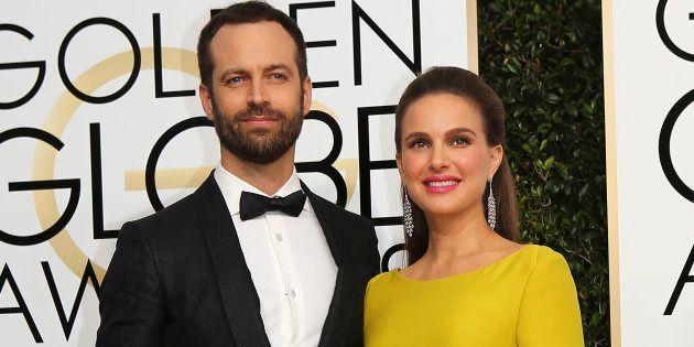 Natalie Portman et Benjamin Millepied, ici sur le tapis rouge des Golden Globes accueillent Amalia, leur...