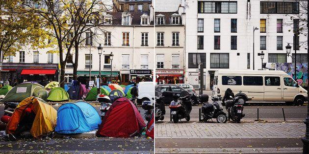 L'avant/après du démantèlement du camp de migrants de