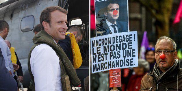 Macron à Saint-Martin, manifestations anti-loi travail en métropole: la guerre des images fait