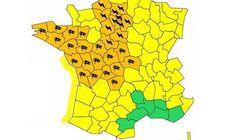 33 départements en alerte orange aux orages et