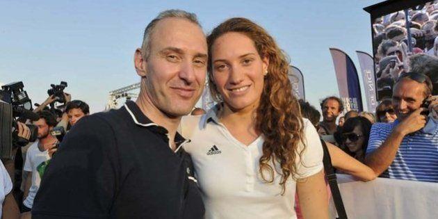 Guy Muffat et sa fille Camille, championne olympique de natation, décédée le 9 mars 2015 dans un accident...