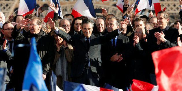 François FIllon au Trocadéro dimanche 5