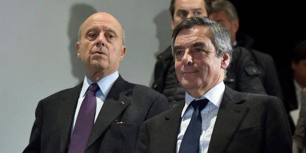 Alain Juppé et François Fillon à Bordeaux le 25 janvier