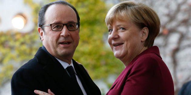Le président de la République François Hollande et Angela Merkel à Berlin en novembre