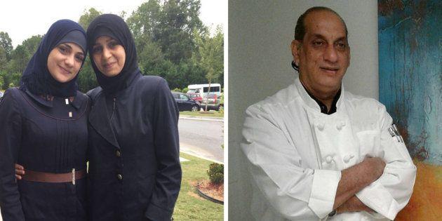 Les sœurs Bakri et Nazer Ghazal ont apporté des plats délicieux aux réfugiés