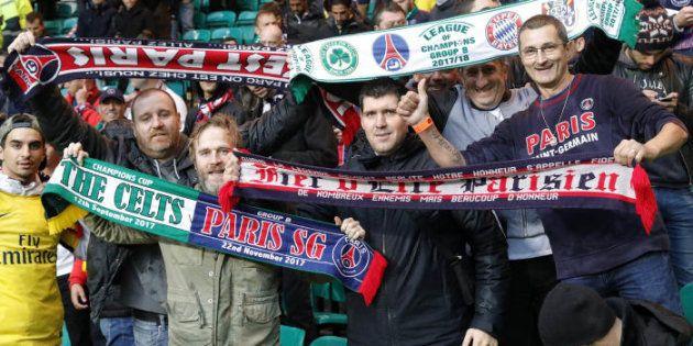 Celtic Glasgow/PSG: le large score n'a pas empêché les supporters des deux camps de