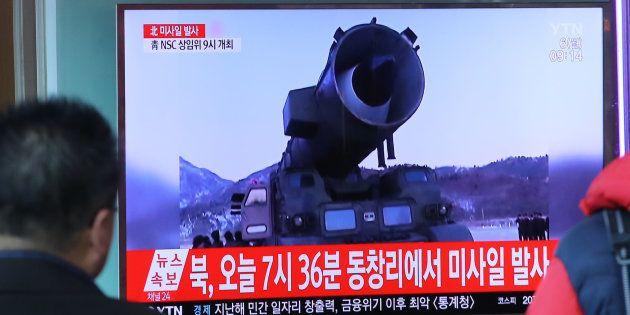 La Corée du Nord tire trois missiles balistiques dans les eaux du