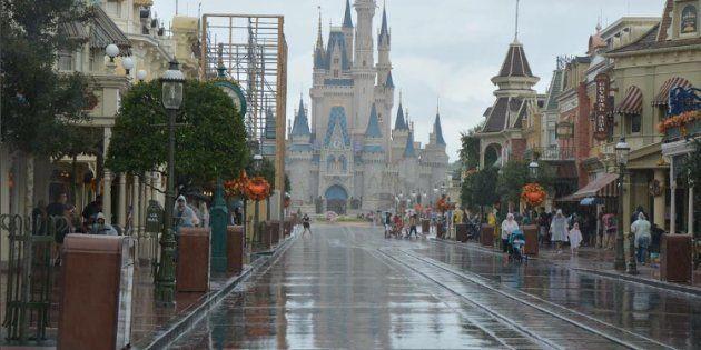 Disney World quelques heures avant l'arrivée de l'ouragan