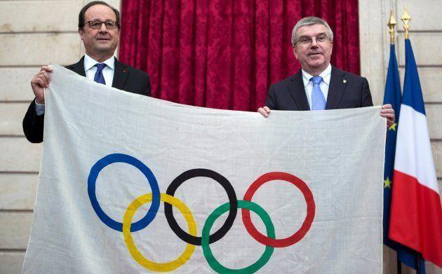François Hollande avec le président du CIO Thomas