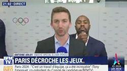 Paris 2024: Teddy Riner s'est bien amusé derrière ce journaliste de