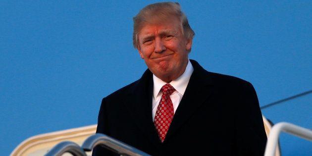 Le président Donald Trump arrive à Washington le 5