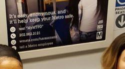 Le métro de Washington illustre une publicité contre le harcèlement avec une