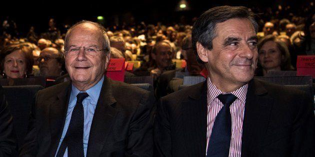François Fillon et Marc Ladreit de Lacharrière en octobre 2016 à