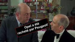 Louis de Funès et Bernard Blier annoncent aux Allemands le rachat