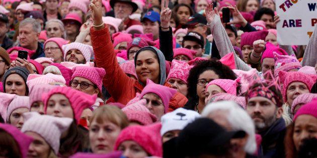 Le jour où j'ai marché pour le droit des femmes à Washington. REUTERS/Shannon