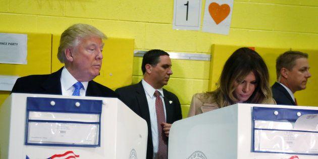 Donald Trump et Melania votent à New