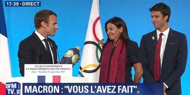 JO 2024 à Paris: pour fêter la victoire, Macron convie Hollande et Sarkozy à