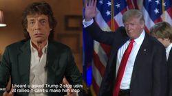 Trump utilise encore cette chanson, que ça plaise ou non à Mick