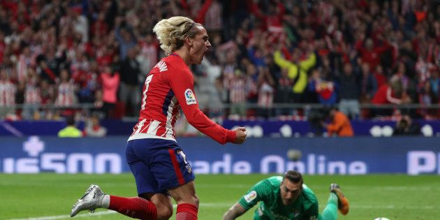 Antoine Griezmann célèbre son but contre Malaga ce 16 septembre