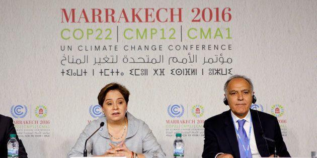 Conférence de presse lors de la Cop 22 à Marrakech le 6 novembre 2016. REUTERS/Youssef