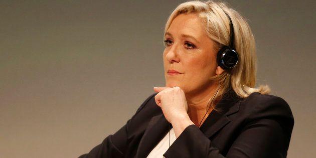 Marine Le Pen en janvier 2016 au sommet Europe des nations et des libertés de Milan (AP Photo/Antonio