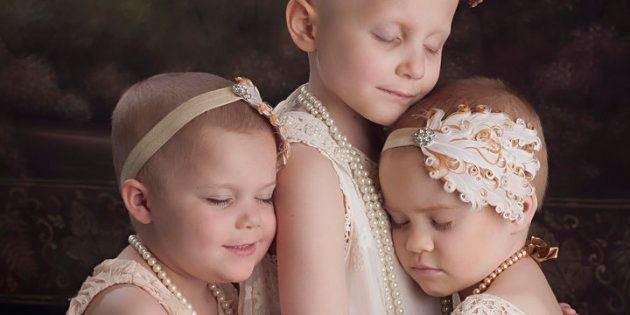 Ces enfants survivants du cancer reproduisent la même photo à 3 ans d'intervalle