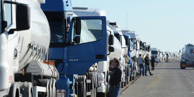 Pourquoi les routiers manifestent ce lundi (Image