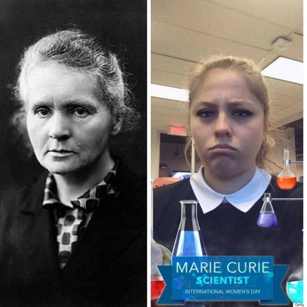Pour la Journée des droits des femmes, Snapchat ajoute du maquillage à son filtre Marie Curie et ça n'a...