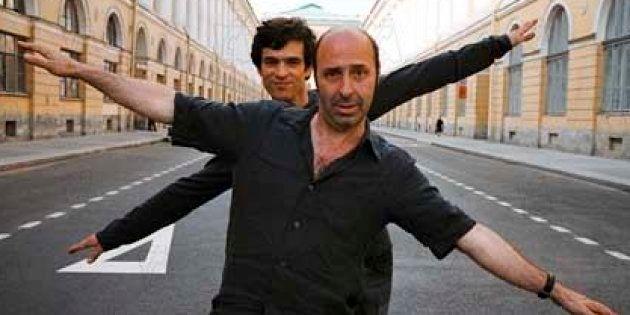 Romain Duris et Cédric Klapisch sur le tournage