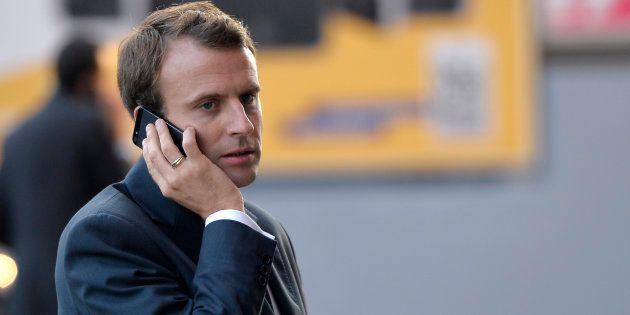 Le numéro personnel de Macron se retrouve sur