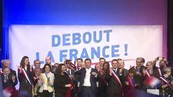 Le geste digne d'une rock star de Nicolas Dupont-Aignan à la fin de son