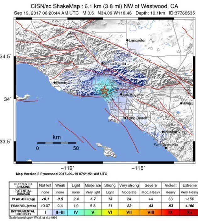 Les stars tremblent après un séisme à Los