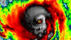 La forme effrayante de l'ouragan Maria sur ces images