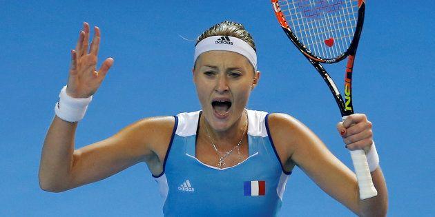 Kristina Mladenovic s'incline face à Karolina Pliskova après un set historique pour la Fed