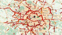 La région parisienne a battu son record absolu d'embouteillages ce