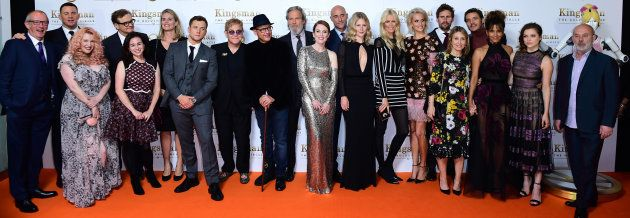 The Cast of The Kingsman attending the World Premiere of Kingsman: The Golden Circle, at Cineworld in...