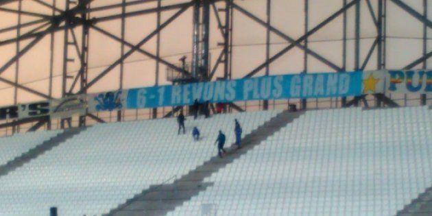 Avec cette banderole, les supporters de l'OM se vengent en chambrant les Parisiens après l'humiliation...