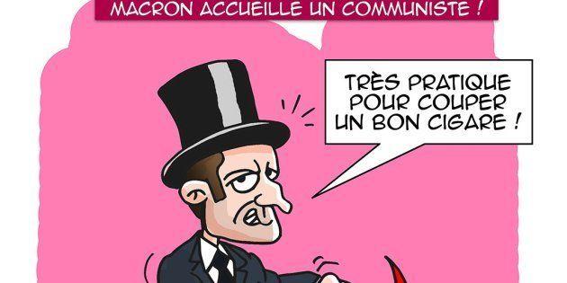 La caricature d'Emmanuel Macron