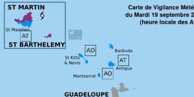 Ouragan Maria: Saint-Martin et Saint-Barthélémy en alerte