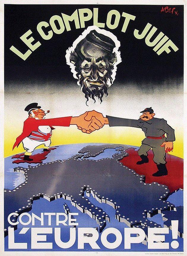 Affiche nazie 1942 « Le complot juif contre l'Europe